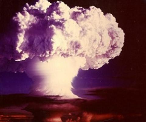Ivy Mike was an atmospheric nuclear test conducted at Enewetak Atoll on 1 November 1952. It was the world's first successful hydrogen bomb. Photo: Public domain