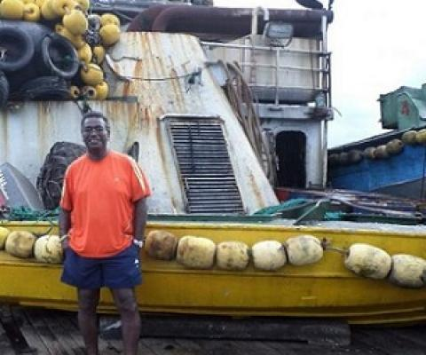 Dr Transform Aqorau spent three weeks on a fishing trip of the FV Lojet purse seiner in 2015. Photo: Marshall Islands Journal.