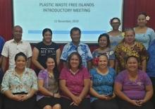 Participants in Apia, Samoa PWFI project inception. credit - IUCN