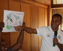 participants present group inshore zero maps. Credit - Christian Manepolo